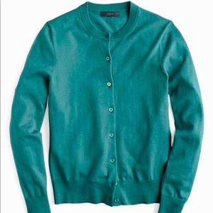 J. Crew Jackie Cardigan in Teal  size Small
